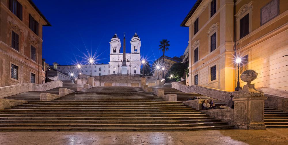 Spanische Treppe am morgen in Rom