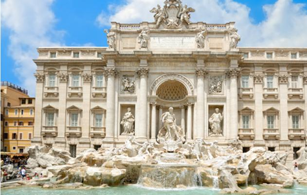 Trevi Brunnen in Rom in Italien