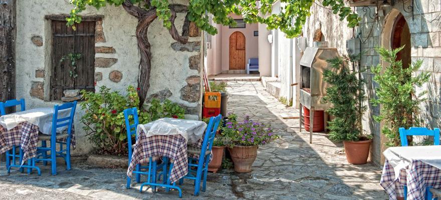 Dorf auf Kreta in Griechenland