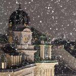 Dächer von Wien im Winter