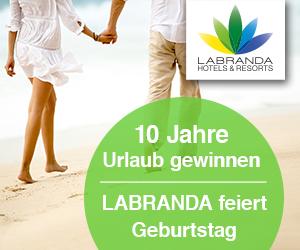 LABRANDA Gewinnspiel: 10 Jahre Urlaub gewinnen!