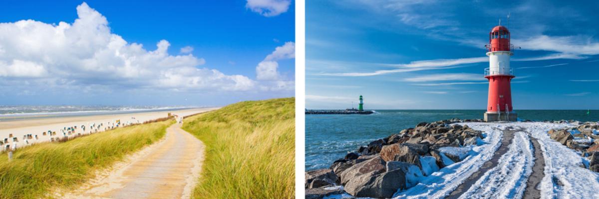 Urlaub in Deutschland: Nordsee und Ostsee