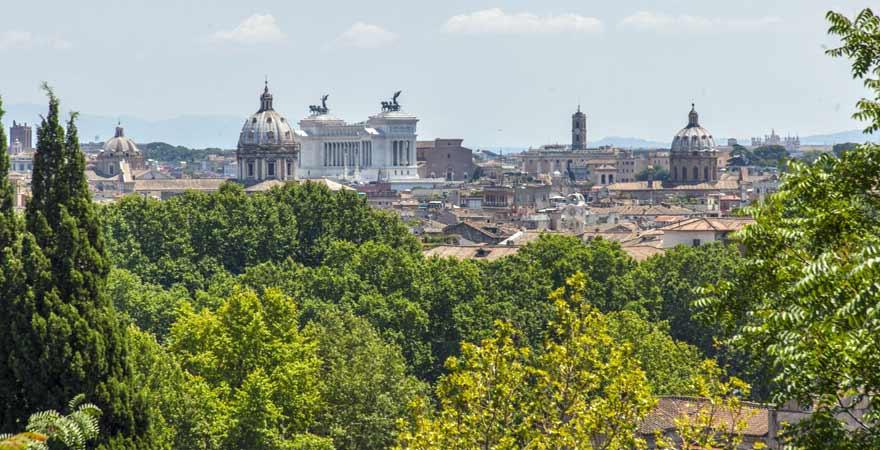 Ausblick vom Gianicolo in Rom in Italien