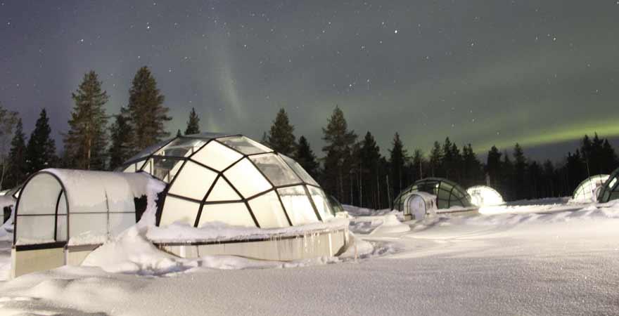 Nordlichter in Lappland in Finnland