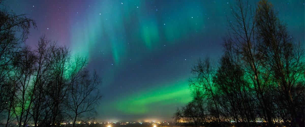 Bunte Polarlichter