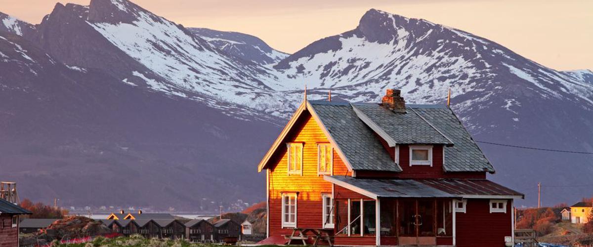 Einsame Natur in Norwegen