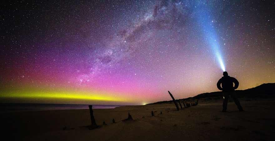 Südlichter in Victoria in Australien