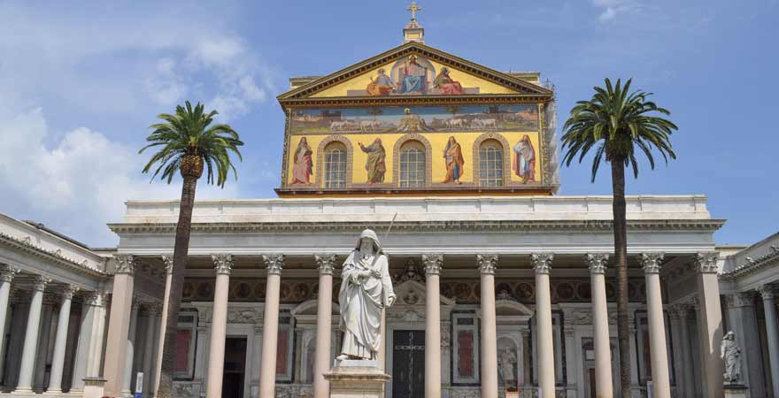 Kirche San Paolo fuori le Mura in Rom in Italien