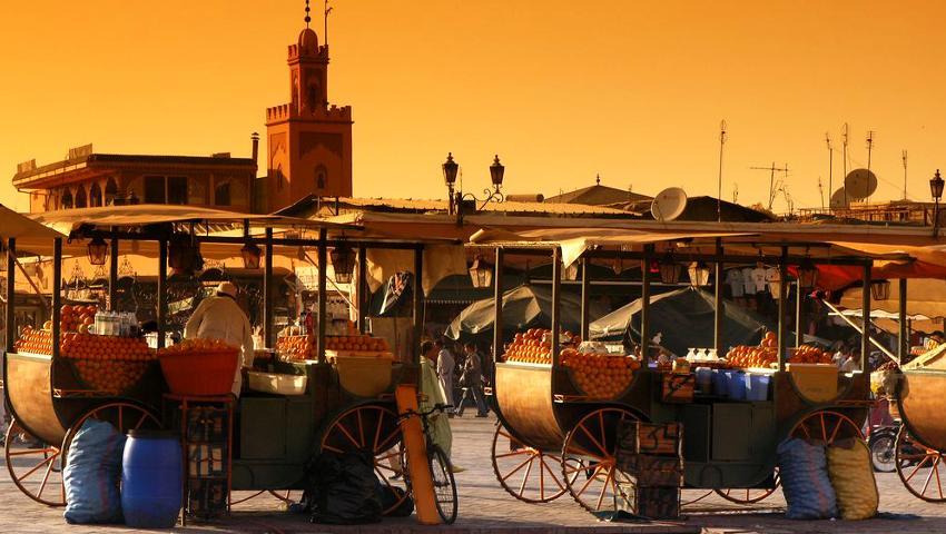 Abendstimmung auf der Djemaa el Fna in Marrakesch