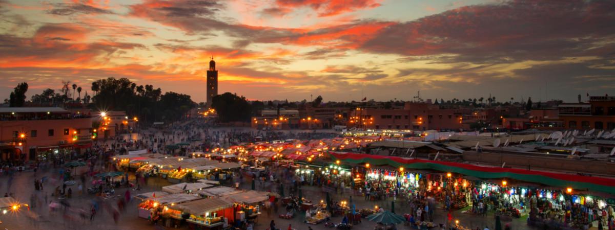 Markt in Marrakesch in Marokko