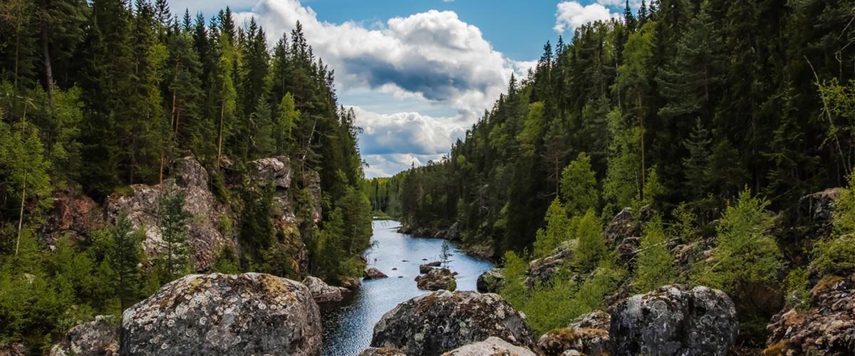 The dead Waterfall in Schweden