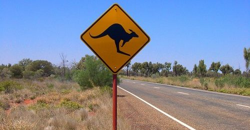Warnschild in Australien