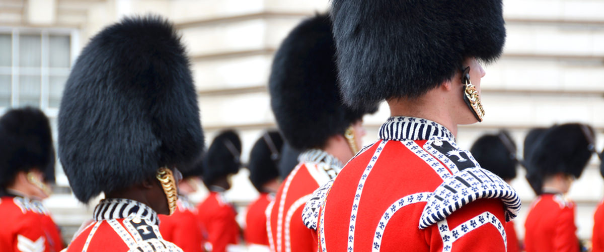 Guards in London in England
