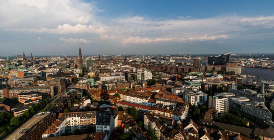 Blick auf Hamburg in Deutschland