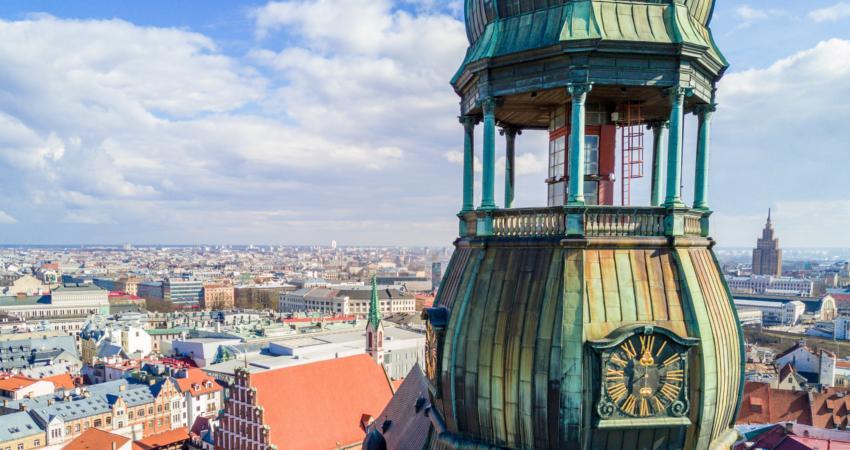 Kirche in Riga mit Aussicht