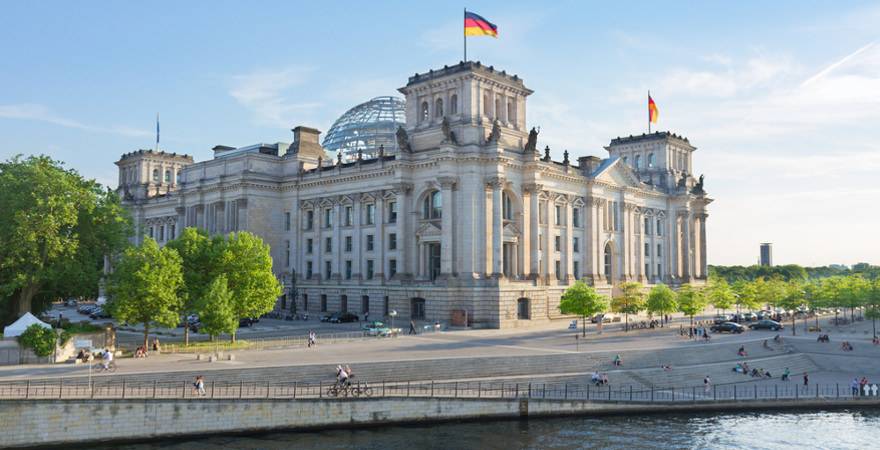 Reichstag in berlin in Deutschland