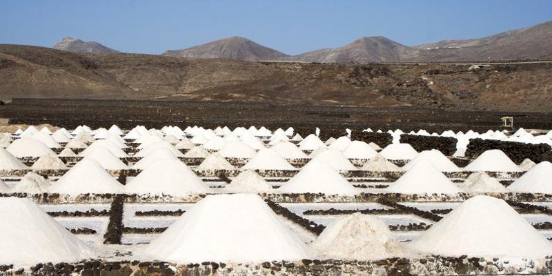 Salzsaline auf Lanzarote