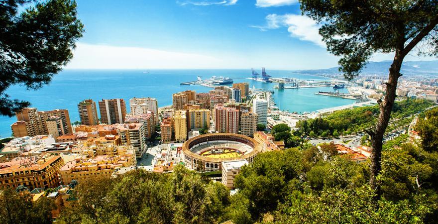 Malaga in Spanien