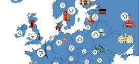 Wo ist Sightseeing in Europa günstig und wo teuer?