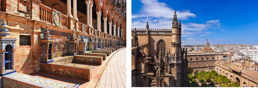 Altstadt Sevilla in Spanien