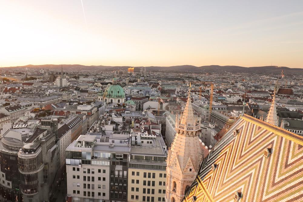 Blick auf Wien in Oesterreich