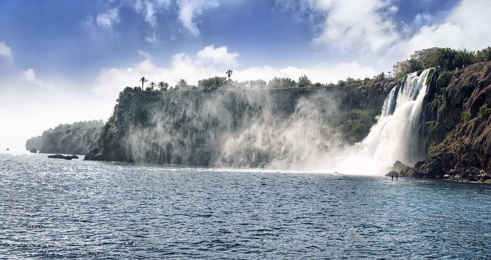 Wasserfall in Antalya in der Tuerkei