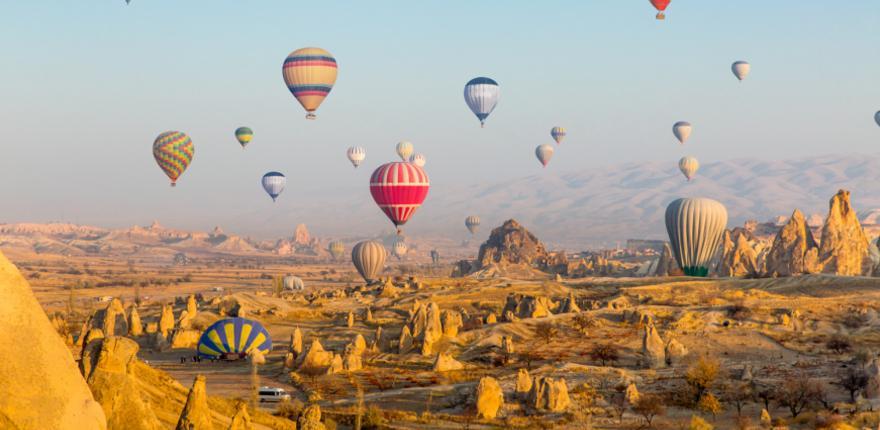 Mit dem Heißluftballon über Kappadokien