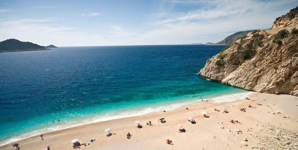 Strand an der tuerkischen Riviera