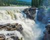Athabasca Wasserfaelle in Kanada