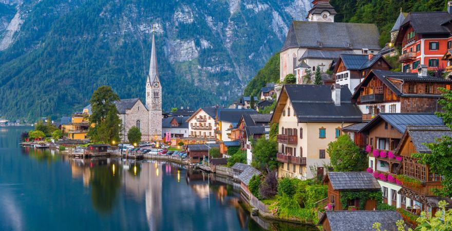 Hallstättersee in Österreich
