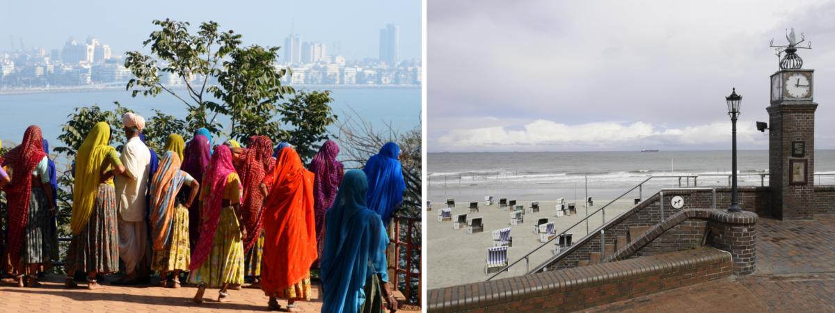 Traditionelles Indien und autofreies Wangerooge