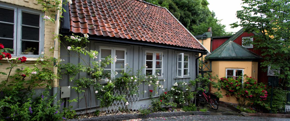 Norweger Häuser in Telthusbakken