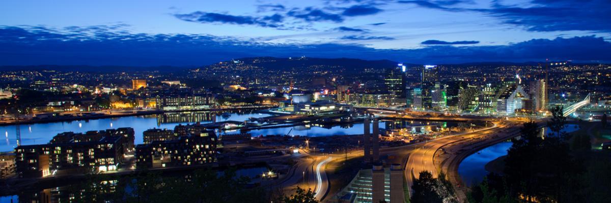 Nachtleben in Oslo.