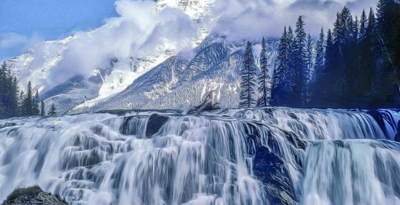 Wapta Wasserfälle in Kanada