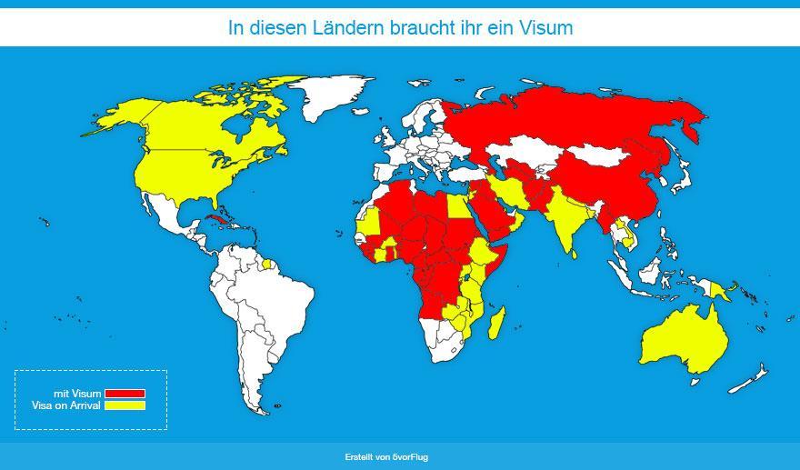 Visapflichtige Länder