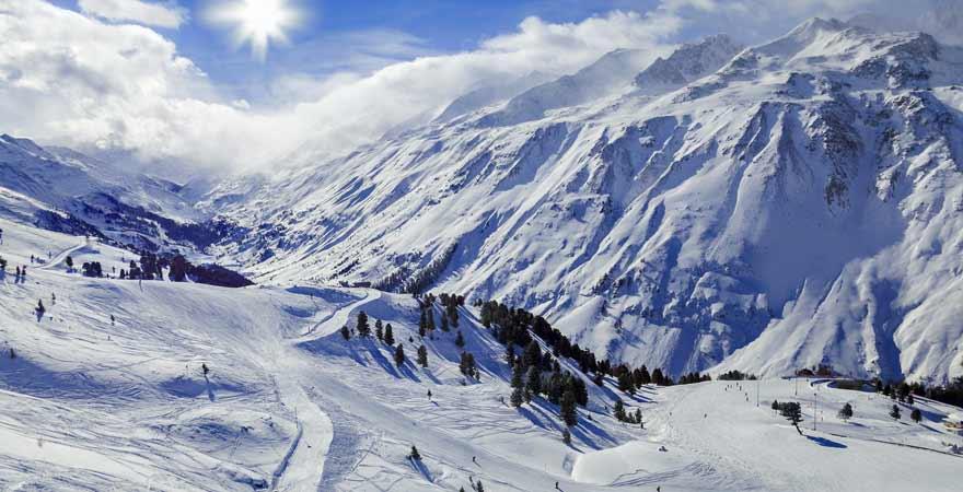 Skigebiet Obergurgl in Österreich