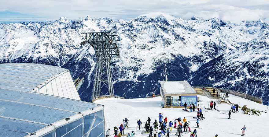 Skigebiet Sölden in Österreich