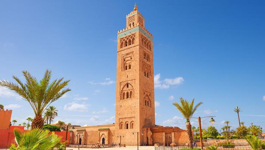 Marrakesch Palme Moschee