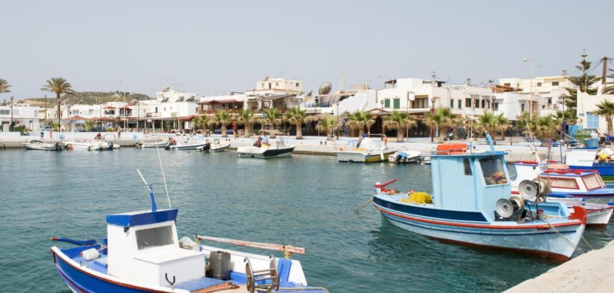 hafen in Kos in Griechenland