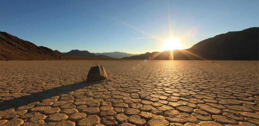 Nationalpark in den USA: Die landschaft des death valley