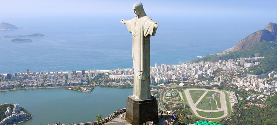 Erloeserstatue in Rio de Janeiro in Brasilien