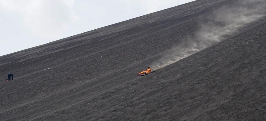Vulkan Asche Staub
