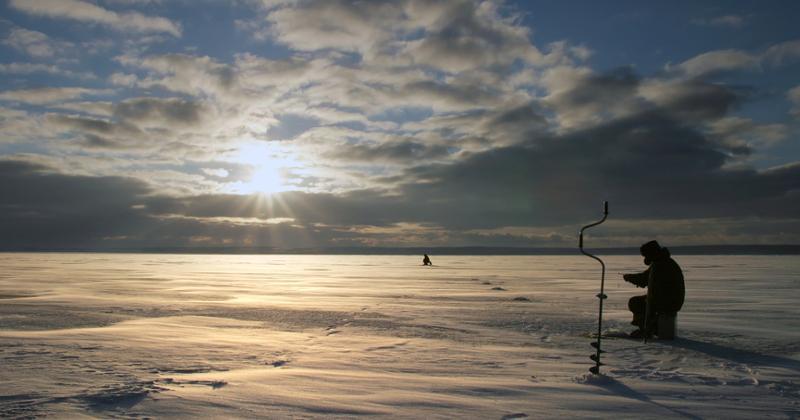 Eisangeln in Schweden