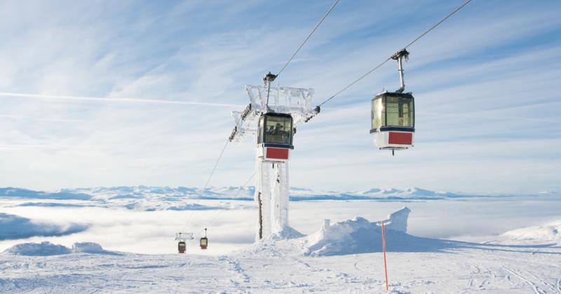 Skigebiet schweden
