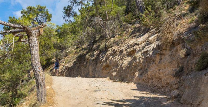 Wanderweg auf Zypern