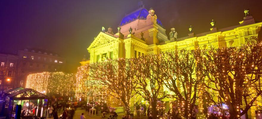 Lichter Bäume Weihnachten