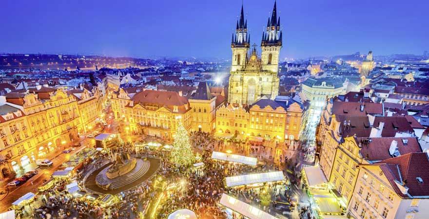 Weihnachtsmarkt in Prag in Tschechien