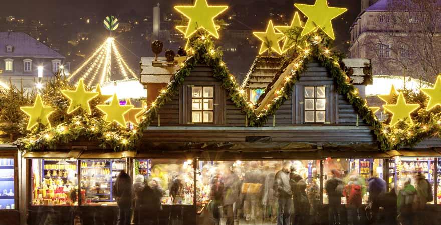 weihnachtsmarkt in Stuttgart in Deutschland