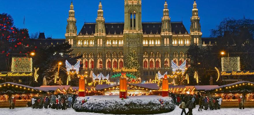 Weihnachten Markt Stände