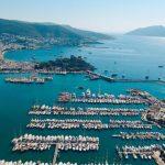 Hafen von Bodrum in der Tuerkei